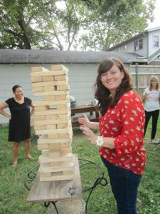 Nichole and Jenga