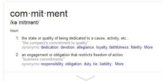 commitment 1